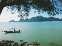 Pescador en Tailandia Fotos de archivo