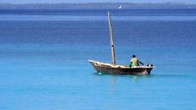 Pescador en Zanzibar Imágenes de archivo libres de regalías