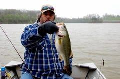 Pescador frío Foto de archivo libre de regalías