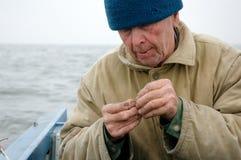Pescador idoso Imagens de Stock Royalty Free