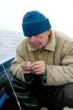 Pescador idoso Foto de Stock Royalty Free