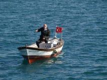 Pescador idoso Fotografia de Stock