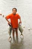 Pescador joven Imágenes de archivo libres de regalías