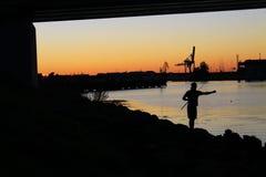 Pescador joven Fotos de archivo