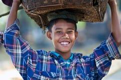 Pescador joven, Myanmar Fotos de archivo libres de regalías