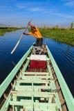 Pescador, lago del inle en Myanmar (Burmar) Foto de archivo libre de regalías