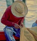 Pescador malasio Fotos de archivo libres de regalías