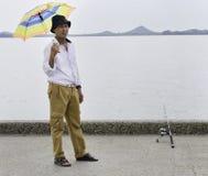 Pescador mayor Foto de archivo libre de regalías