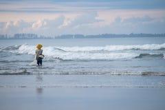Pescador no beira-mar Imagem de Stock