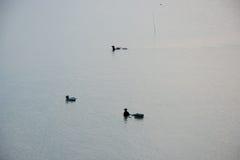 Pescador no mar Imagens de Stock Royalty Free