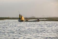 Pescador no rio imagens de stock royalty free