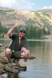 Pescador orgulloso Imagen de archivo libre de regalías