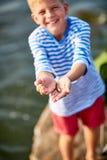 Pescador pequeno Imagens de Stock
