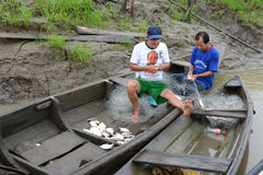 Pescador peruano Imagen de archivo libre de regalías