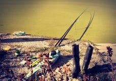 Pescador que falta Fotografía de archivo