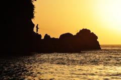 Pescador solitário Fotografia de Stock