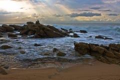 Pescador solitário Fotografia de Stock Royalty Free