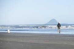 Pescador solitario Foto de archivo libre de regalías