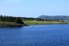 Pescador solitario Norway Foto de archivo libre de regalías