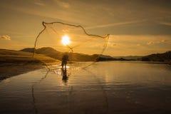 Pescador tailandês Fotografia de Stock