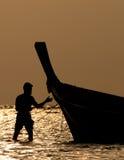 Pescador tailandês Foto de Stock