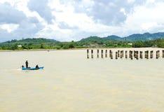 Pescador tailandês Imagem de Stock Royalty Free