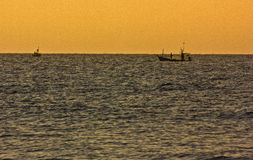 Pescador Thai Fotografía de archivo libre de regalías