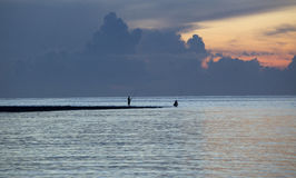 Pescador tradicional na praia de Sanur Fotografia de Stock Royalty Free