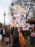 Pescador trastornado con el presidente Imagenes de archivo