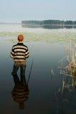 Pescador, verano, recorrido Fotografía de archivo libre de regalías