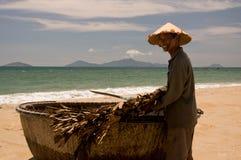 Pescador vietnamiano Fotografia de Stock Royalty Free