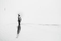 Pescadora só Imagens de Stock Royalty Free