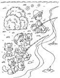 Pescadores ilustración del vector