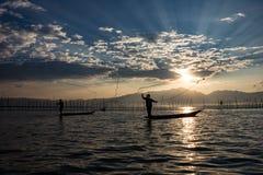 Pescadores Foto de archivo libre de regalías