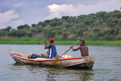 Pescadores africanos Imágenes de archivo libres de regalías