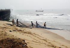 Pescadores africanos Foto de archivo