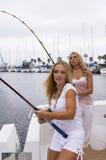 Pescadores atractivos Imágenes de archivo libres de regalías
