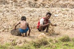 Pescadores cerca de Siem Reap Fotos de archivo