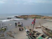 Pescadores da costa do cabo Imagens de Stock