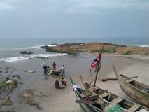 Pescadores de la costa del cabo Imagenes de archivo