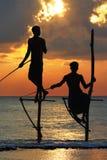 Pescadores de Sri Lanka Fotos de Stock