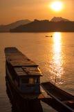 Pescadores del Mekong Foto de archivo