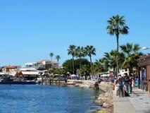 Pescadores do porto de Paphos Fotos de Stock Royalty Free