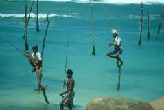 Pescadores do Stilt fotografia de stock royalty free