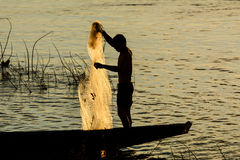 Pescadores e métodos de pesca Fotografia de Stock