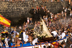 Pescadores e Virgen del Carmen 3 Imagem de Stock