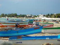 Pescadores em Hammamet, Tunísia Imagem de Stock