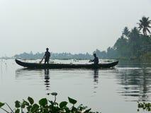 Pescadores em um bote Fotos de Stock Royalty Free