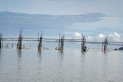 Pescadores en Bako Imagen de archivo libre de regalías