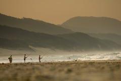 Pescadores en el cabo vidal Imagen de archivo libre de regalías